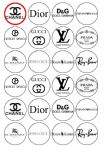24 x Designer Labels Edible Rice Wafer Paper Cupcake Toppers